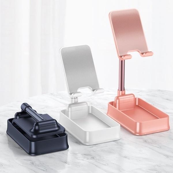 【Love Shop】爆款 伸縮折疊桌面手機支架 鋁合金懶人手機平板通用手機支架 可收納