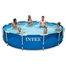 【美國 INTEX】戲水系列-12尺金屬框架泳池(不含抽水泵) 28210
