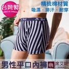 台灣製 男性平口褲 精梳棉+萊卡材質 no.9175 (藍色)-席艾妮SHIANEY