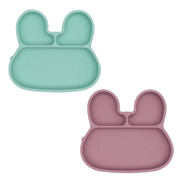 澳洲We Might Be Tiny 矽膠分隔餐盤 吸盤-兔寶寶(2色可選)