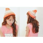 毛帽 雙色 漸層 時尚 百搭 針織 毛帽【QI1653】 ENTER