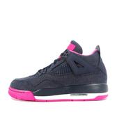 Nike Girls Air Jordan 4 Retro GS [487724-408] 大童鞋 喬丹 經典 深藍