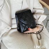 小包包女2020新款洋氣鏈條單肩包秋季質感女包休閑包包菱格小方包
