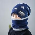 兒童帽子秋冬男童毛線帽韓版冬季保暖加絨防風護耳圍巾帽子套裝潮 黛尼時尚精品