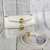 BRAND楓月 BVLGARI 寶格麗 全白色 雙蛇頭包 AW聯名款 肩背包 鍊包 側背包