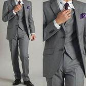 西裝套裝含西裝外套+褲子-自信焦點職業成套男西服6x21[巴黎精品]