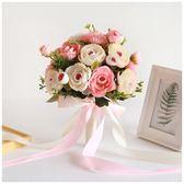 尾牙鉅惠婚禮花束 婚紗影樓攝影拍照道具新娘手捧花結白韓式花束YYS 珍妮寶貝