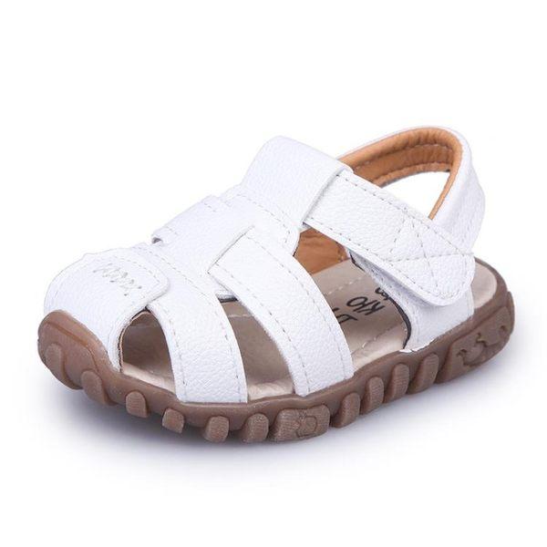 夏季1-2-3-4歲男女童包頭牛皮兒童涼鞋寶寶