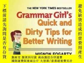 二手書博民逛書店Grammar罕見Girl s Quick And Dirty Tips For Better Writing
