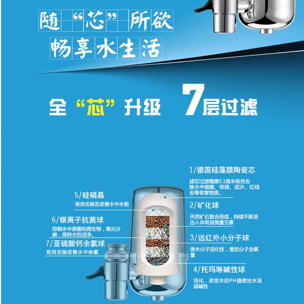 過濾器 盛康爾水龍頭凈水器家用廚房直飲濾水器陶瓷除垢自來水過濾器家用 宜品居家
