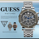 GUESS 時尚魅力休閒腕錶 43mm/GC/男女兼用/SV/計時碼表/X72009G5S 現+排單/免運!