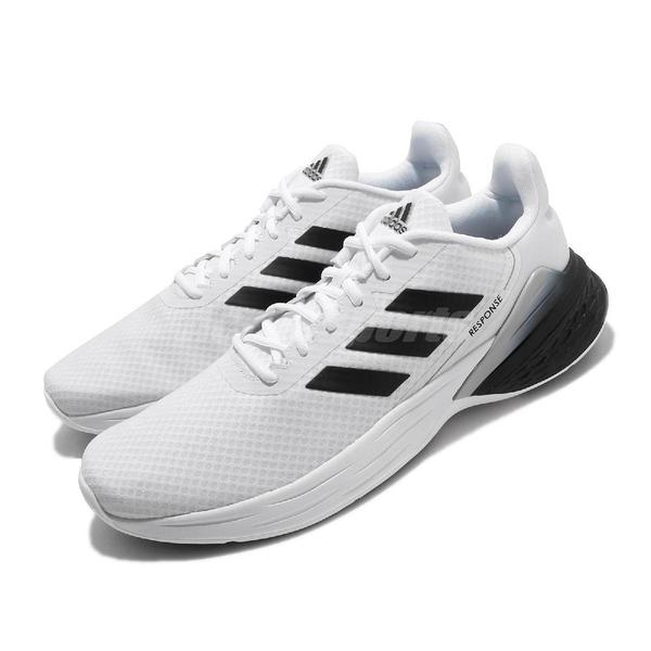 adidas 慢跑鞋 Response SR 白 黑 男鞋 舒適緩震 運動鞋 【ACS】 FX3626