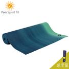 Fun Sport fit 雲之境-深呼吸專業瑜珈墊(漸層綠) 6mm-送吉尼亞瑜珈背袋