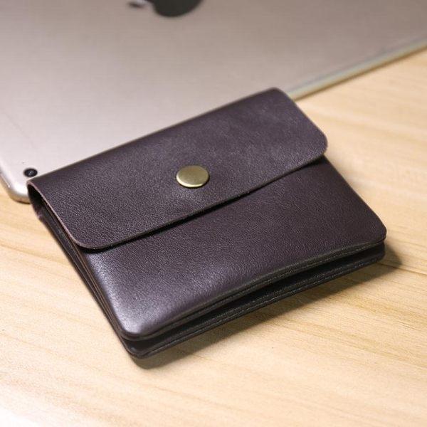 日韓男迷你硬幣包學生錢夾男士真皮雙層搭扣卡包女短款零錢夾女 降價兩天