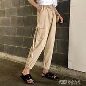 休閒褲  正韓社會港風hiphop工裝褲女生帥氣褲子嘻哈bf休閒褲女 探索先鋒