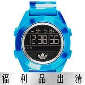 【台南 時代鐘錶 Adidas】愛迪達 ADH2991 大錶徑多功能電子腕錶 50mm 藍/迷彩 公司貨 開發票有保障