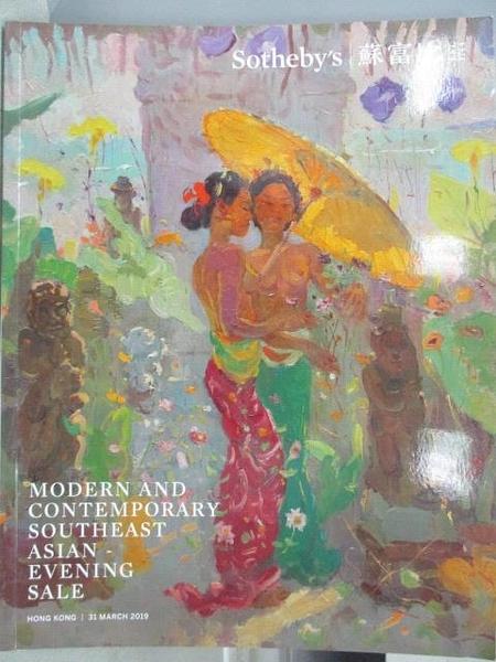 【書寶二手書T4/收藏_JQF】Sotheby s_Modern and Contemporary…Evening Sale_2019/3/31