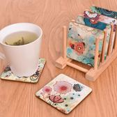 4個裝定制創意可愛木質防滑杯墊日式北歐茶杯水杯墊子歐式隔熱墊【onecity】