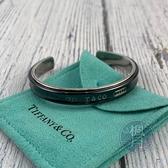 BRAND楓月 TIFFANY&CO.  蒂芬妮 925 1837系列黑/銀雙層半圈手環 手鐲 手圈 配件