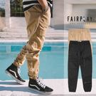 【GT】FairPlay Runner Jarvis 黑卡其 縮口褲 素色 抽繩 彈性 運動 休閒 長褲 束口褲 工作褲 大口袋