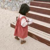 可愛2018春裝新款兒童正韓可愛女童休閒小吊帶娃娃裙潮禮物限時八九折