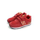 中童 NEW BALANCE YV574RG LIFESTYLE 魔鬼氈 兒童復古鞋 紅金配色 運動鞋 《7+1童鞋》9367 紅色