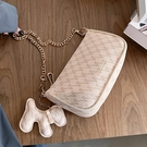 法國小眾設計包包女2021新款潮韓版百搭斜挎小包時尚錬條包麻將包