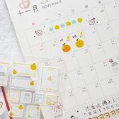 【BlueCat】暮光可愛日付日期貼紙 手帳貼紙
