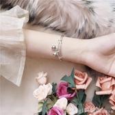 手鐲 電鍍歐幣鈴鐺手鐲 韓版小清新氣質百搭波浪紋可調節手飾 俏girl