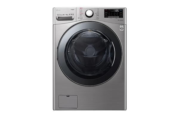 *****東洋數位家電***** LG WiFi滾筒洗衣機(蒸洗脫烘) 典雅銀 / 18公斤 WD-S18VCM
