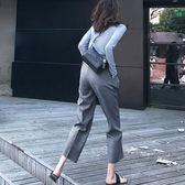 西裝褲夏季高腰七分褲休閒大碼工裝褲直筒褲雪紡薄款九分西裝褲女哈倫褲 (一件免運)