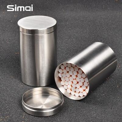 男士50支裝煙盒創意不銹鋼大容量手捲煙桶密封煙絲罐香於煙筒igo 青木鋪子