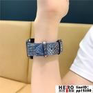 適用iwatch錶帶皮質蛇紋apple watch1/2/3/4代蘋果【邦邦男裝】