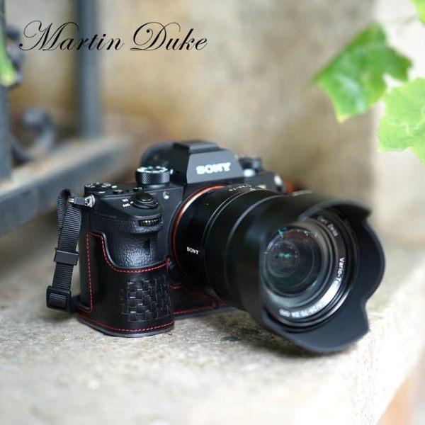 牛皮 索尼A9相機包A7R3 A7RM3 A7iii皮套手柄  魔法鞋櫃  igo