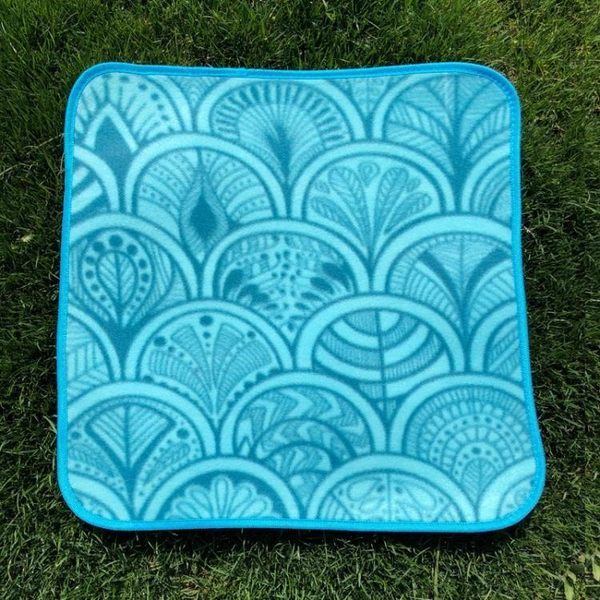 戶外小坐墊超輕單人野餐墊可折疊防潮墊迷你便攜加厚旅行公園地墊~幸運閣