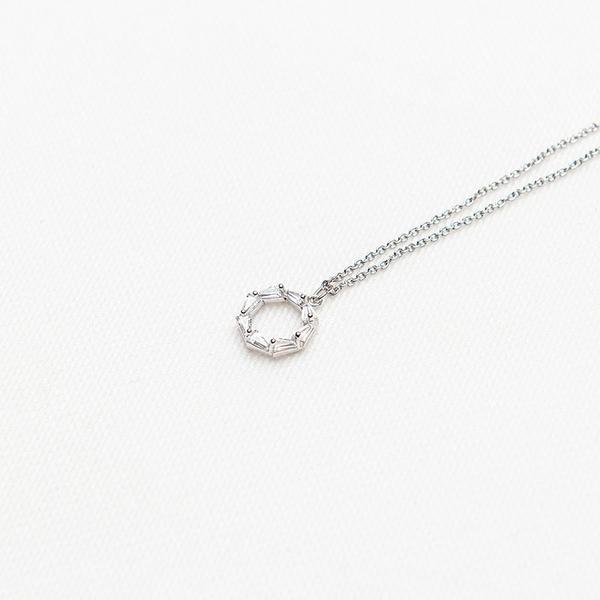 Queen Shop【07040318】造型水鑽多邊環形項鍊*現+預*