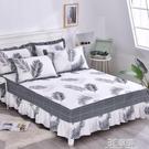 全棉床裙床罩單件純棉防滑床單床套床笠1.8米2.0m1.5床裙式保護套 3C優購