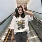 2021夏季新款短袖t恤女寬鬆百搭韓版大碼純棉白色ins半袖體恤上衣 依凡卡時尚