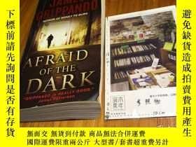 二手書博民逛書店英文原版罕見afraid of the darkY181828