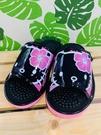 【震撼精品百貨】凱蒂貓_Hello Kitty~日本SANRIO三麗鷗 室內按摩拖鞋-扶桑花/黑粉色(尺寸M~L)#41484/41485