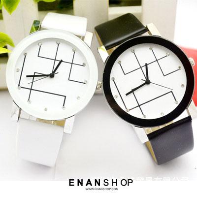 【買1送2】惡南宅急店【0549F】手錶 幾何曲線女錶男錶情侶錶情侶對錶/石英錶金屬錶皮帶錶