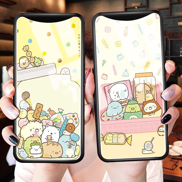 歐珀Find X 卡通手機保護套 OPPO/歐珀 R17/R17Pro鋼化玻璃手機殼 OPPO R15/R15 Pro情侶手機套