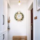 藝術品美式復古創意時尚鐘表時鐘掛鐘現代簡約家用客廳個性石英鐘PH3386【棉花糖伊人】