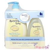 【彤彤小舖】Aveeno 燕麥寶寶溫和洗髮&沐浴乳 微香 2入裝 976ml壓頭 +354ml