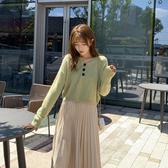 秋冬女套裝2020新款小個子氣質穿搭輕熟針織衫毛衣百褶裙子兩件套