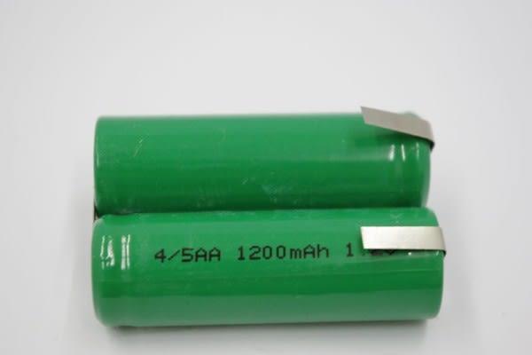 全館免運費【電池天地】2NH-4/5AA 1200mah 2.4V 鎳氫充電電池 工業用電池.特殊電池(刮鬍刀.電剪用電池)