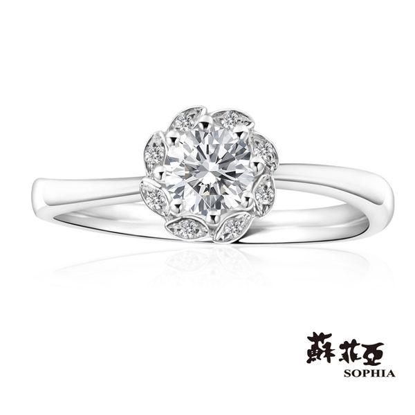 蘇菲亞SOPHIA - 芙娜拉 0.30克拉FVVS1 3EX鑽石戒指 【美鑽81折起】