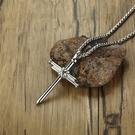 聖釘造型鈦鋼十字架項鍊