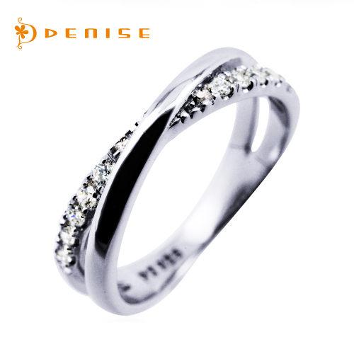尾戒 925純銀鍍白金「遇見愛」晶鑽珠寶銀飾禮品