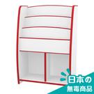 書櫃 收納【收納屋】小木偶四層二格收納櫃-紅白&DIY組合傢俱